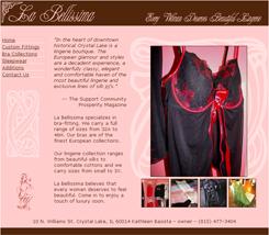 La Bellissima Web site
